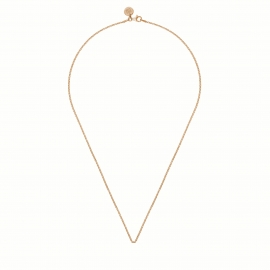Rosegold plated necklace - 45cm