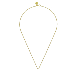 ANCHOR NECKLACE WITHOUT PENDANT 80CM - GOLD