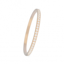 ALLIANCE BANGLE WITH HINGE - ROSE GOLD