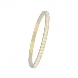 ALLIANCE BANGLE WITH HINGE - GOLD
