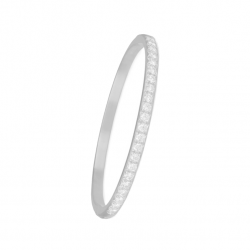ALLIANCE BANGLE WITH HINGE - SILVER