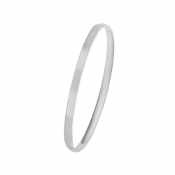MINIMALISTIC BANGLE WITH HINGE - SILVER
