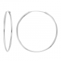 Creoles 10mm, 17.5mm, 20mm, 25mm, 30mm - silver