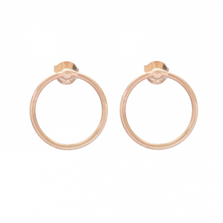 MINIMALISTIC CIRCLE EAR STUD - ROSE GOLD