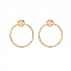 MINIMALISTIC CIRCLE EAR STUD - GOLD