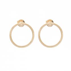 MINIMALISTIC CIRCLE EAR STUD - GOLD