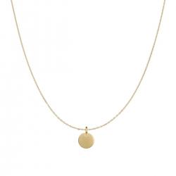 Minimalistische Halskette mit kleinem rundem Anhänger - roségold