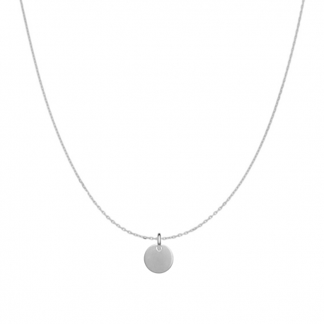 Minimalistic necklace with small round charm - gold