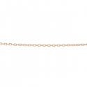 Minimalistic necklace with small round charm - rosegold