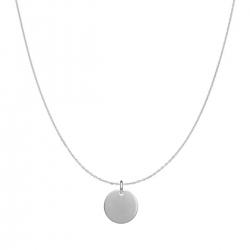 Minimalistische Halskette mit kleinem rundem Anhänger - Silber