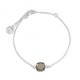 Armband mit Rauchquarz - Silber