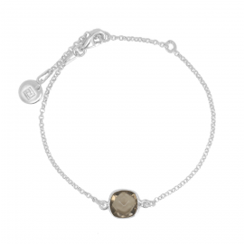 Bracelet with smoky quarz in silver