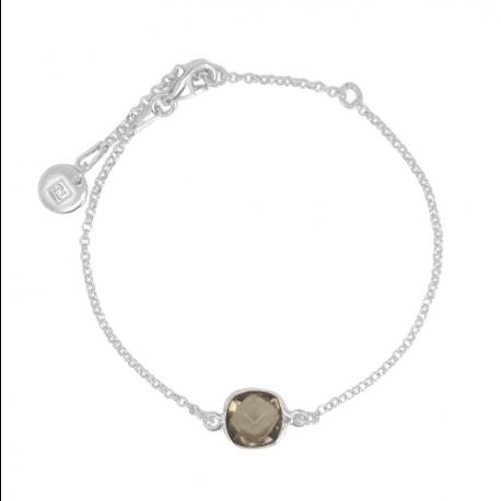 Armband mit Rauchquarz aus Silber