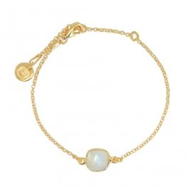 Armband mit Mondstein aus vergoldetem Silber